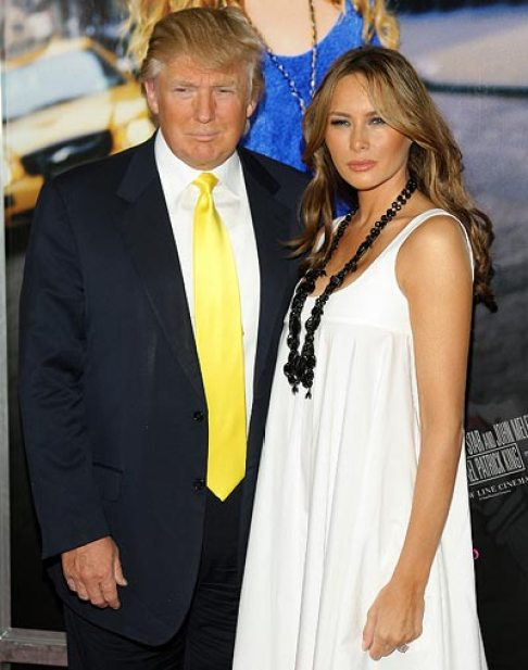 Donald Trump With Wife In White Beautiful