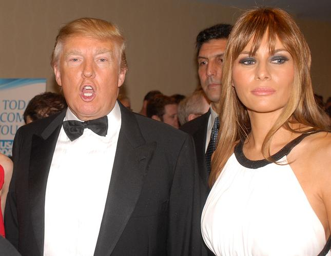 Donald Trump With Wife Looking Superb
