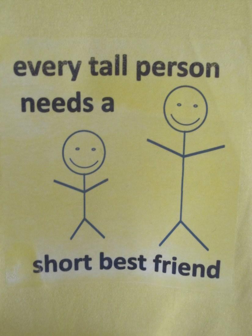 every tall person needs a short best friend.