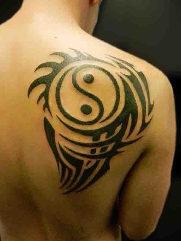 Fascinating Tribal Design Saying Yang Tattoo Designs Masculine Tattoos With Black Ink For Man Woman