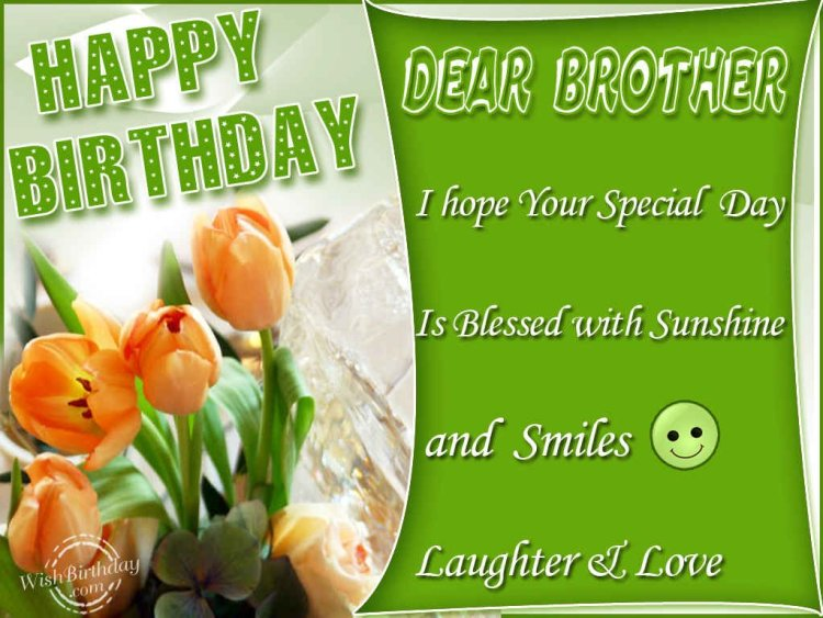 happy birthday dear brother i hope your special day is blessed with sunshine and smiles laughter i love.