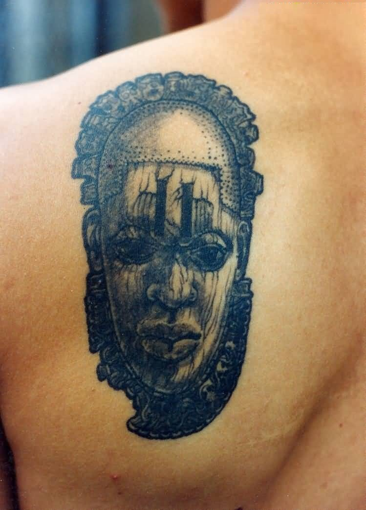 Innovative Unique Face Mask Tattoo Of Africa For Man