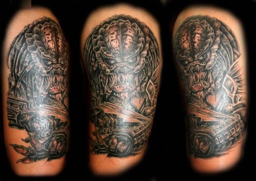 inspirational gray color ink Predator Tattoo Made for boys