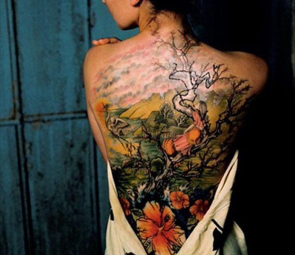 Lovely Tree Of Life Tatoos For Women On Back
