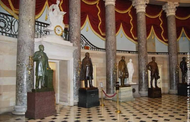 Many Statues In National Statuary Hall Of United Statues Capitol Photo