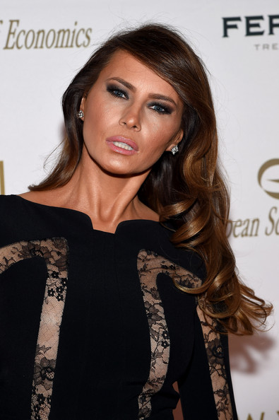 Melania Looking Good In Black