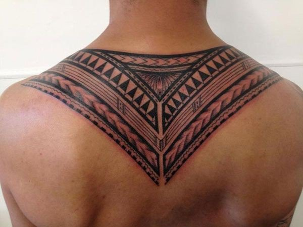 Simple Samoa Neck Tattoo With Black Ink For Man Woman Samoan tattoo
