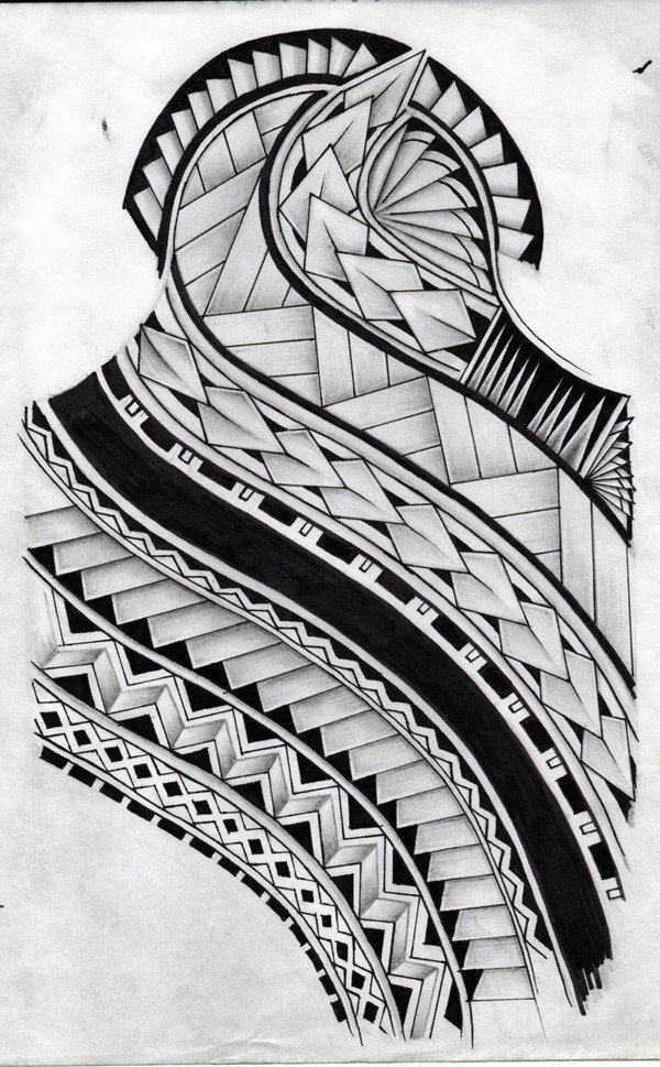 Simple Samoan Tattoo Design By Koxnas With Black Ink For Man Woman