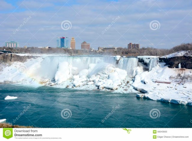 Superb View Of Niagara Falls Frozen For Wallpaper