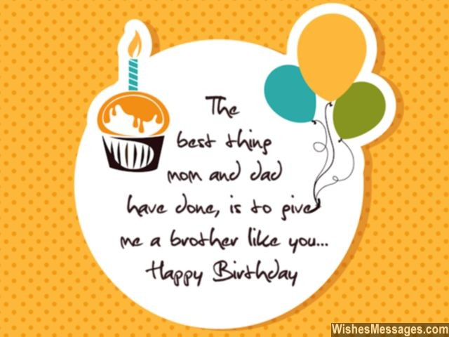 50 Happy Birthday Brother Wishes Quotes Cake Images