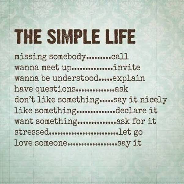The Simple Life Missing Somebody Call Wanna Meet Up Invite Wanna Be Understood Explain Have Questions Ask Dont Like Something Say It Nicely Like Something Declare It Want Something A