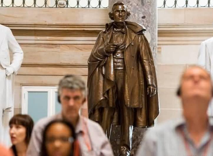 Unique Photo Of A Bronze Statue Of Confederate President Jefferson Davis Interior Of United States Capitol