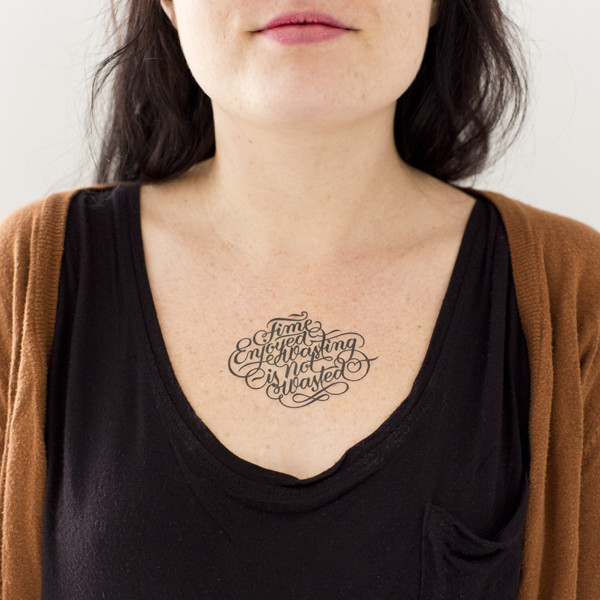 Wonderful Font Temporary Tattoos On Chest For Man Woman