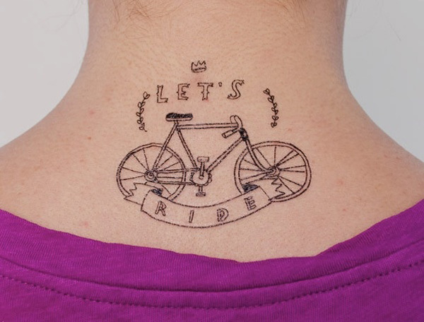 Wonderful Temporary Tattoos For Bike Lovers On Neck For Man Woman