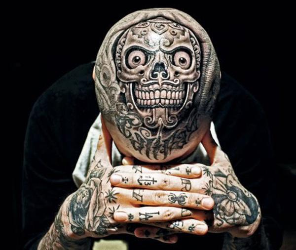 tattoo on the head