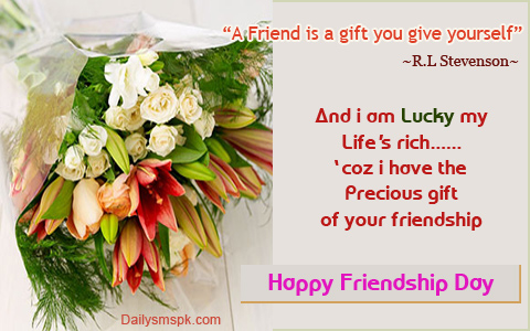 A Friend Is A Gift You Give Yourself Happy Friendship Day Image