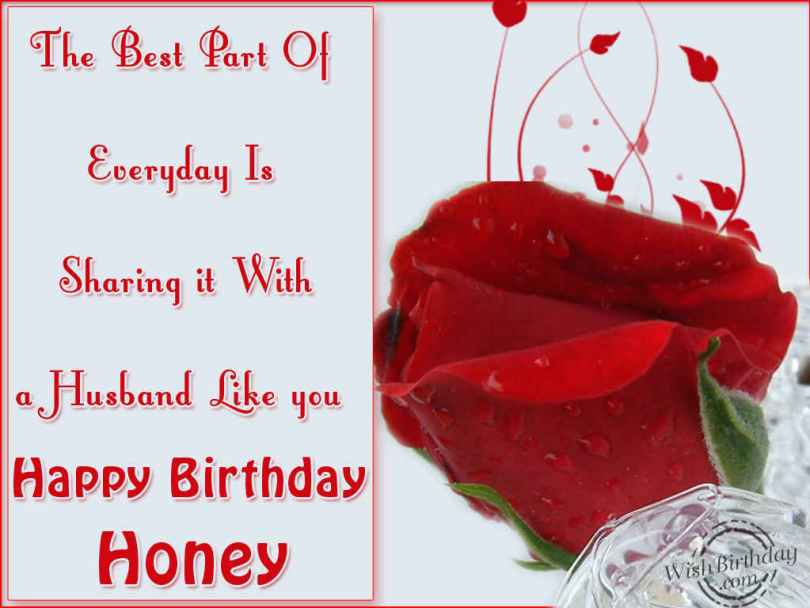 A Husband Like You Happy Birthday Honey Wishes Message Image