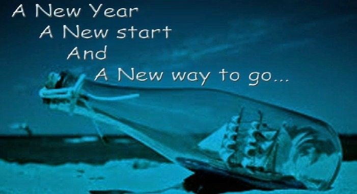 A New Year A New Start And A New Way To Go Wishes Image