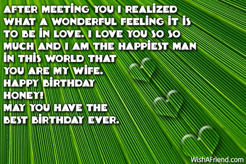 A Wonderful Feeling It Is May You Have The Best Birthday Honey