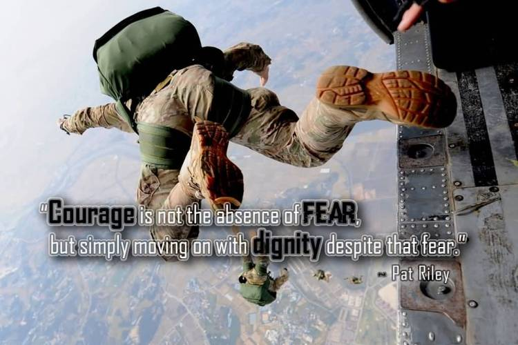Absence Quotes Courage is Not The Absence of Fear But Simply Moving On With Dignity Despite That Fear.