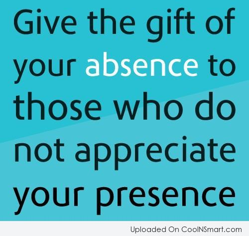 Absence Quotes Sayings 03