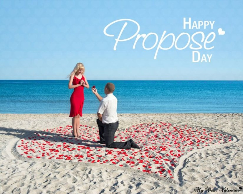 Amazing Propose On Beach Happy Propose Day Darling