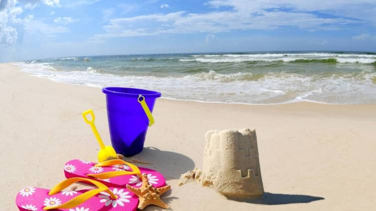 Awesome Beach For Desktop Full HD Wallpaper