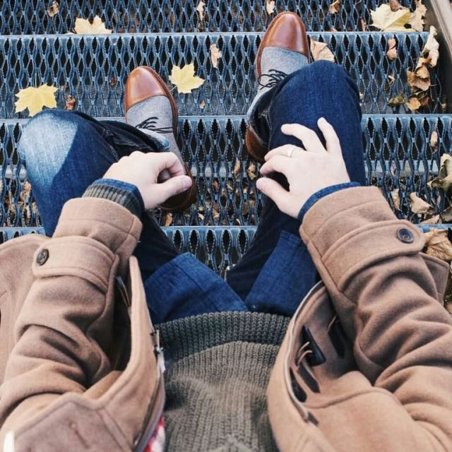 Awesome Grey Shoes Highlight With Brown Leather Top
