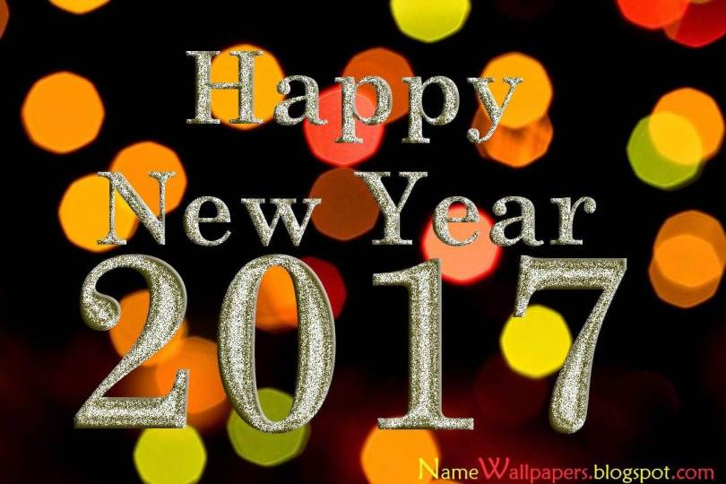 Awesome Wishes For Happy New Year 2017 Wallpaper