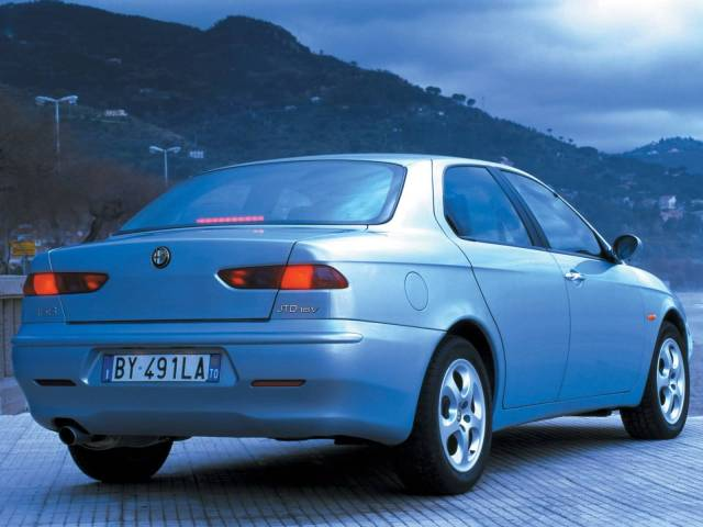 Back side of beautiful Alfa Romeo 156 Car