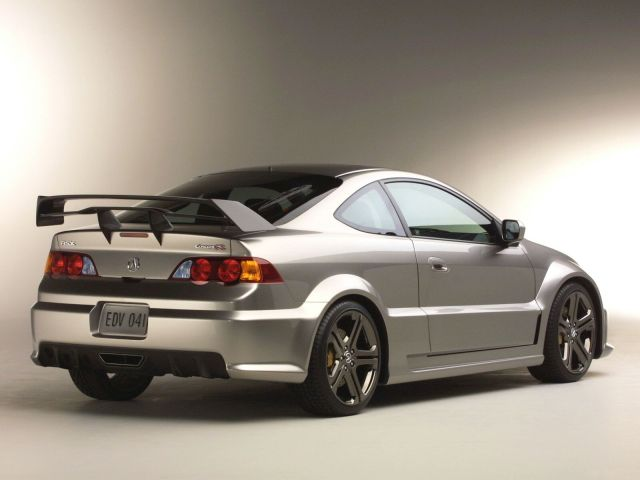 Back side view of beautiful black Acura RSX Car