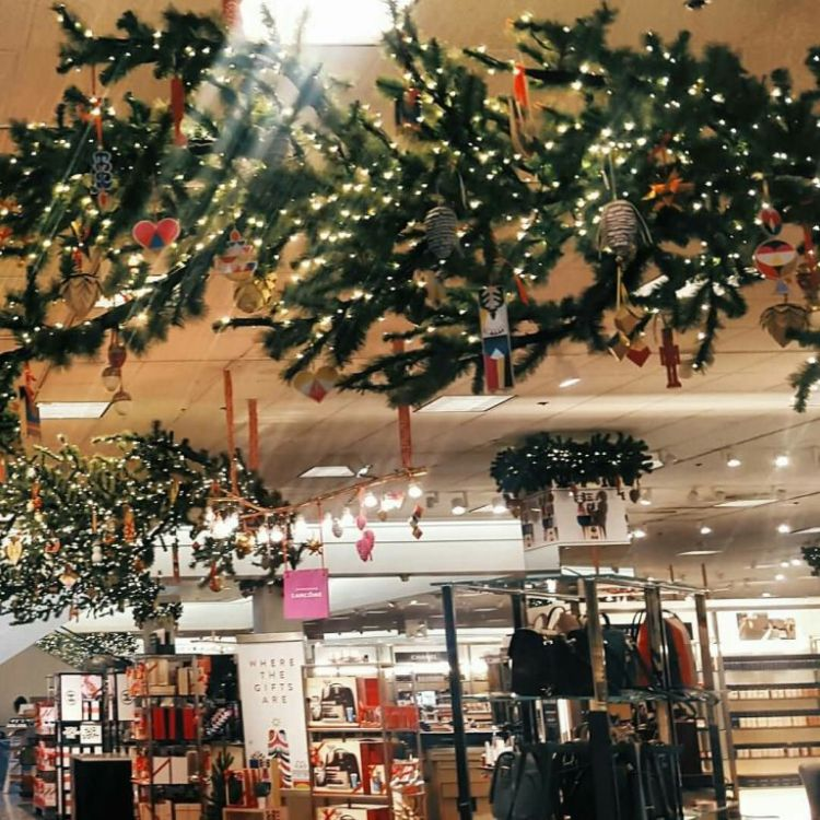 Beautiful Decoration With Christmas Tree Inside Of Mall
