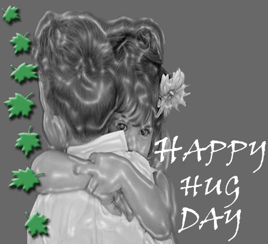 Beautiful Girl Hugging Happy Hug Day Image