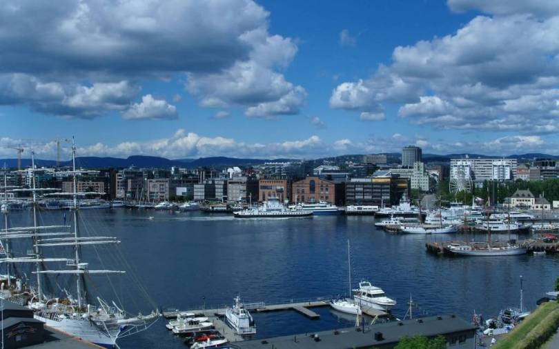 Beautiful Oslo fjord Full HD Wallpaper