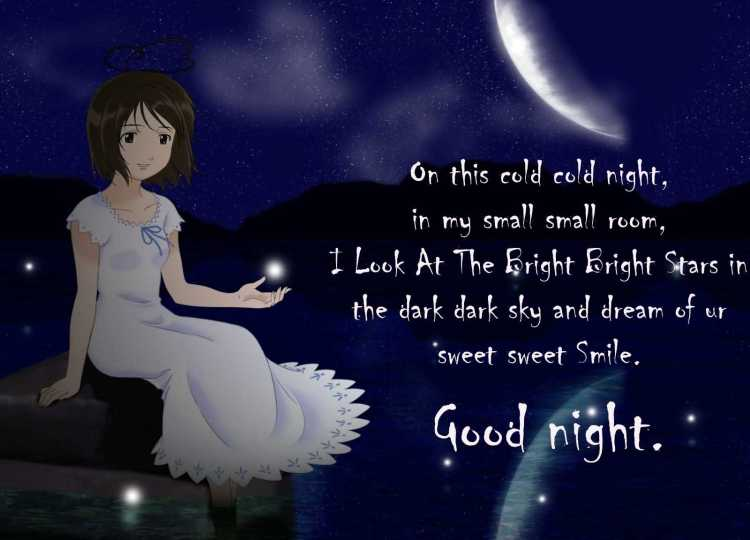 Beautiful Poem Good Night Wishes Image
