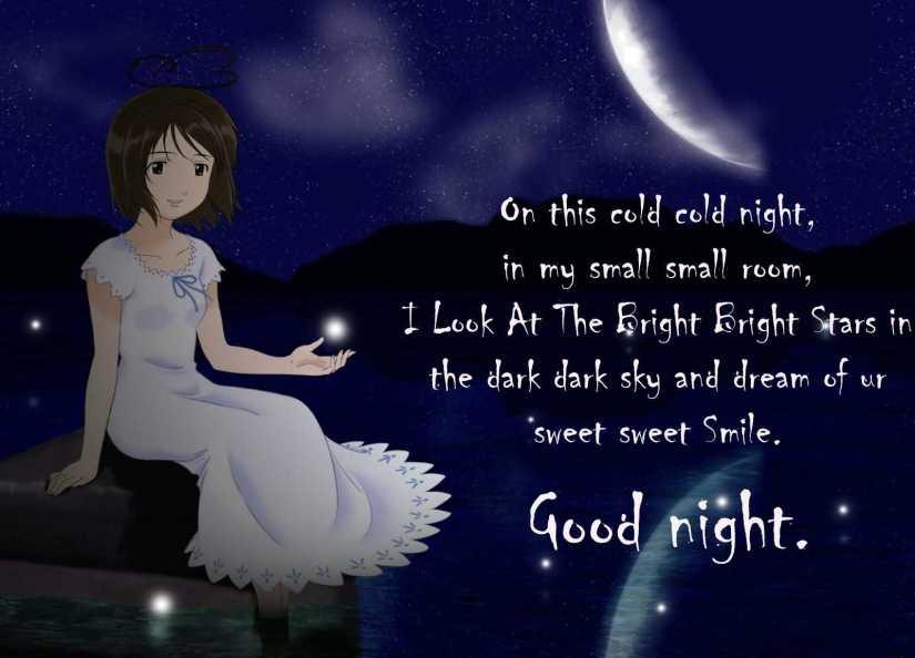 Beautiful Poem Good Night Wishes Image