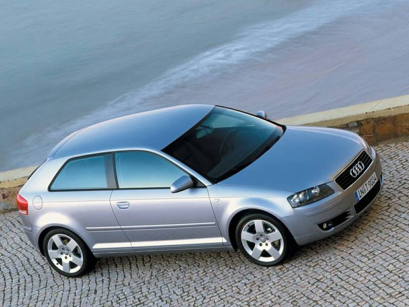 Beautiful Right side view of silver Audi A3 car