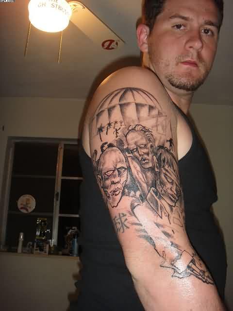 Beautiful Zombie Tattoo On The Arm