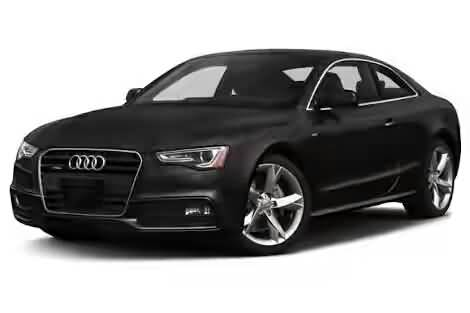 Beautiful front side view of black audi car