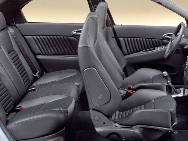 Beautiful inside black seat of Alfa Romeo 156 GTA Car