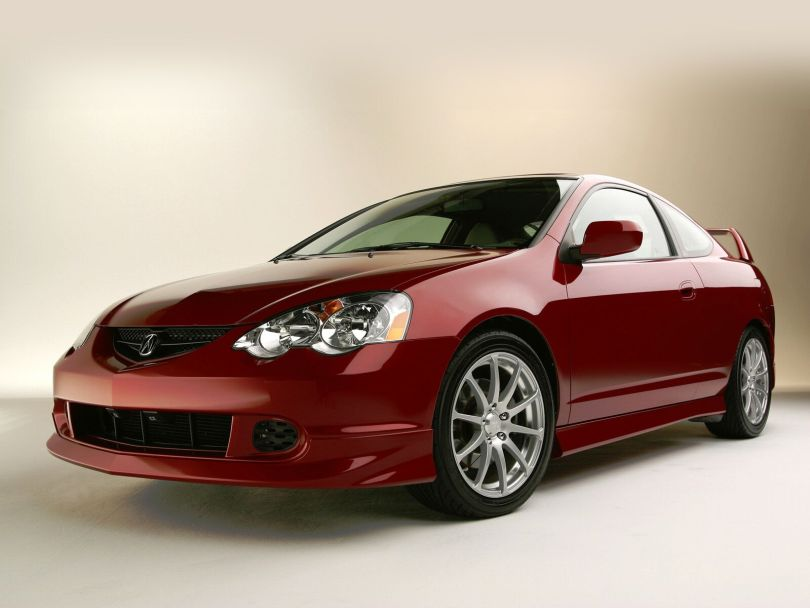 Beautiful red Acura RSX Car