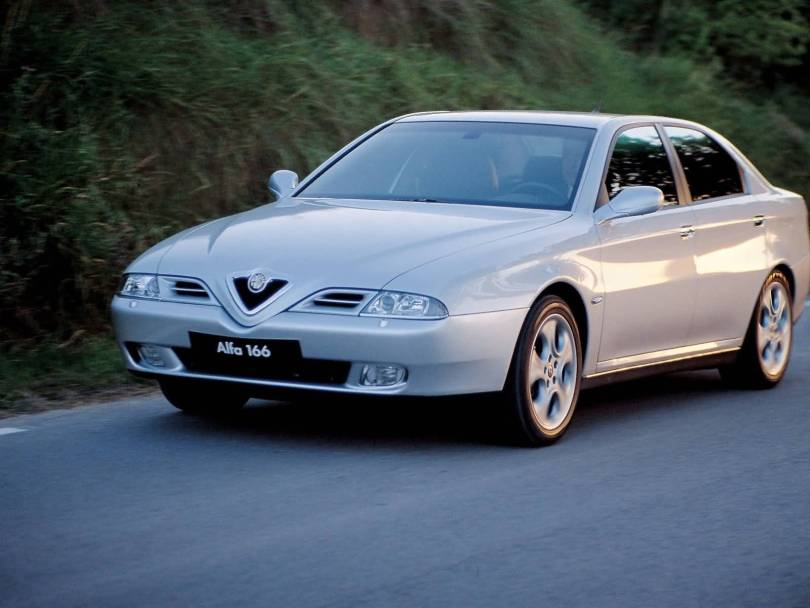 Beautiful silver Alfa Romeo 166 Car on the road