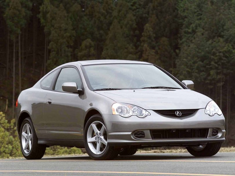 Beautiful silver color Acura RSX Car front side view