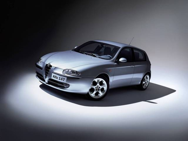 Beautiful view silver Alfa Romeo 147 Car