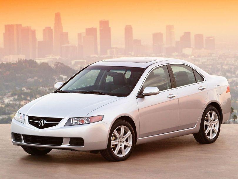 Beautiful white Acura TSX car