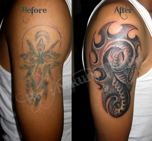Tattoo Cover Up Quotes: 44 Coolest Biomechanical Tattoo Designs With Meaning