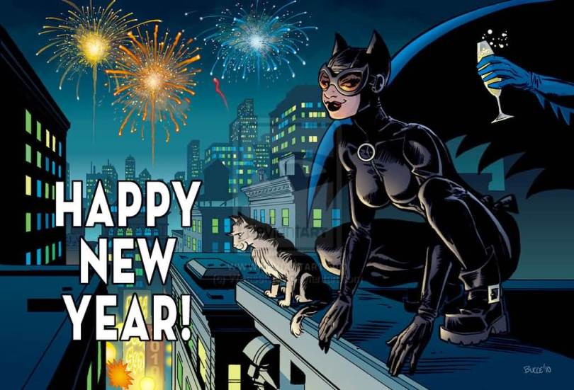 Catwoman Celebrate New Year Image