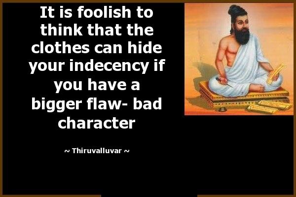 Character Sayings It Is Foolish To