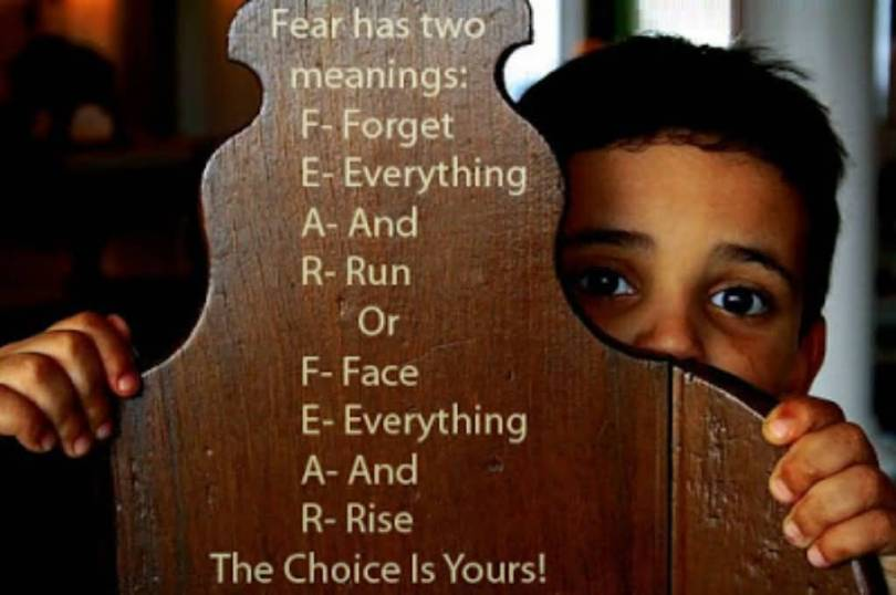 Choice Quotes Fear Has Two Meanings