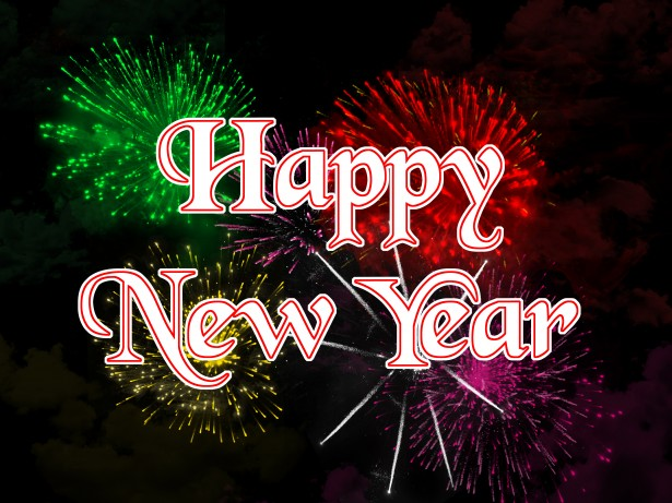 Colorful Greetings Happy New Year Image